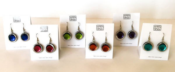 Eclipse Collection: Fish-hook Earrings - Choice of 6 colours