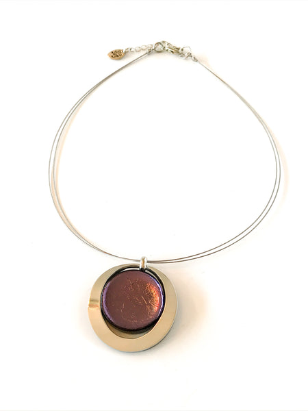 Eclipse Collection: Pendant Necklace - Choice of 6 colours