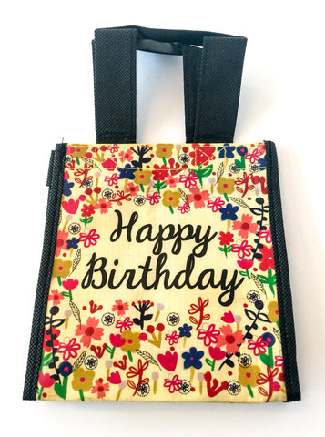 Recycled Plastic Giftbag (Small) - Happy Birthday