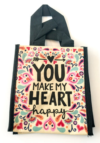 Recycled Plastic Giftbag (Small) - You Make My Heart Happy