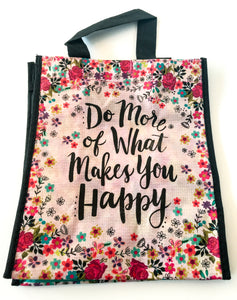 Recycled Plastic Giftbag (Medium) - Do More Of What Makes You Happy