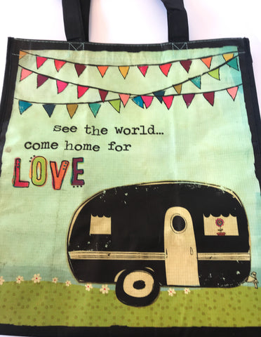 Recycled Plastic Giftbag (Large) - See The World, Come Home For Love