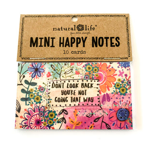 Mini Happy Notes - Don't Look Back You're Not Going That Way