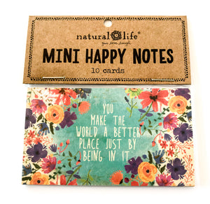 Mini Happy Notes - You Make The World A Better Place