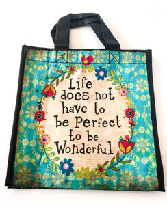 Recycled Plastic Giftbag (Medium) - Life Does Not Have To Be Perfect...