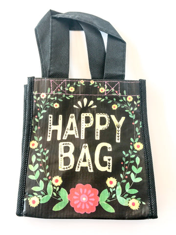 Recycled Plastic Giftbag (Small) - Happy Bag (Black)