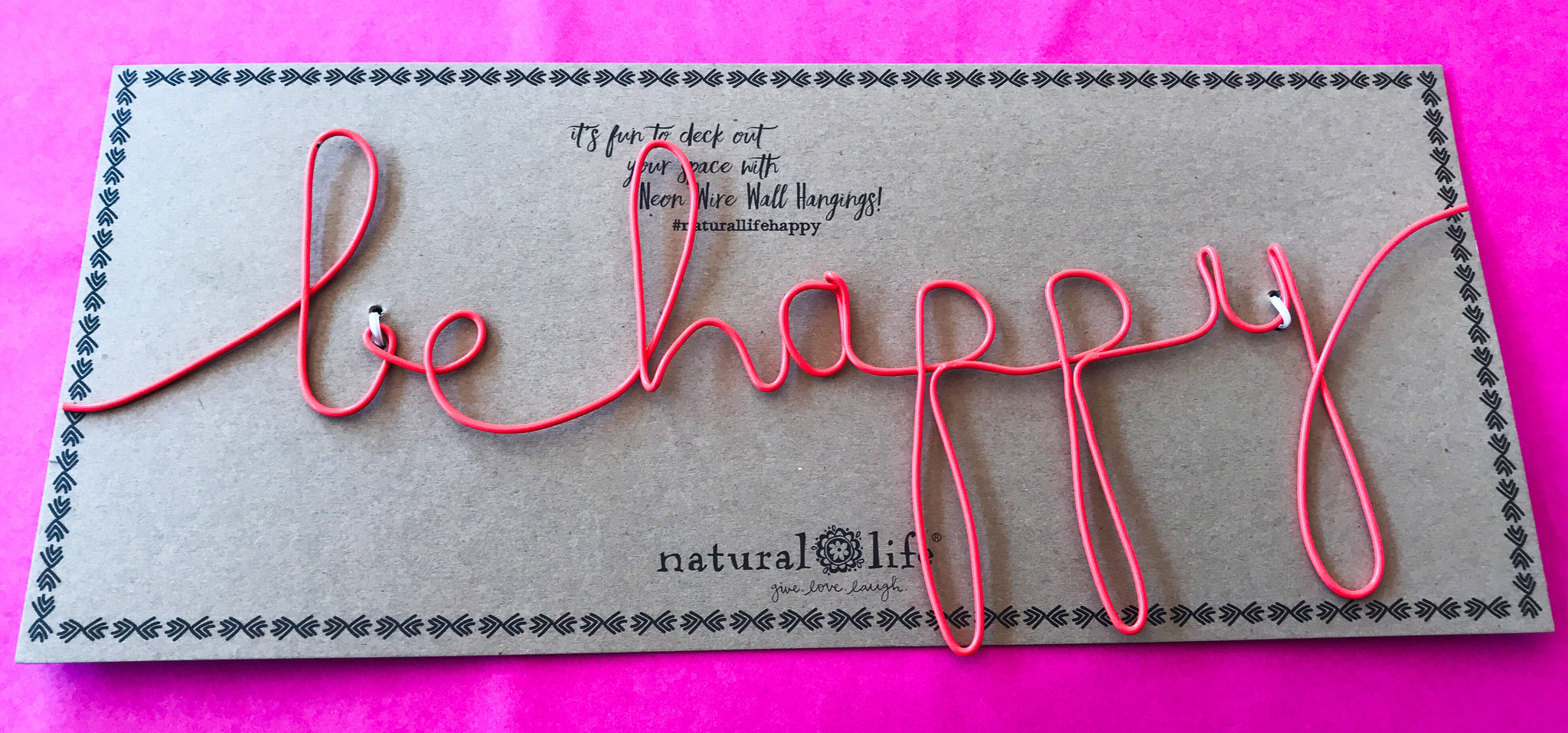 Wire Word Wall Art - Be Happy