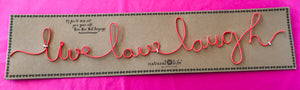 Wire Word Wall Art - Live Love Laugh