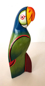 Hand-painted Wooden Parrots - Large