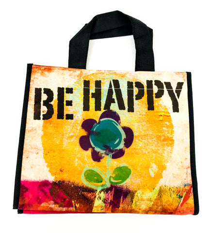 Recycled Plastic Giftbag (Medium) - Be Happy