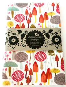 MaggieMagoo Designs - Light Toadstools Tea Towel