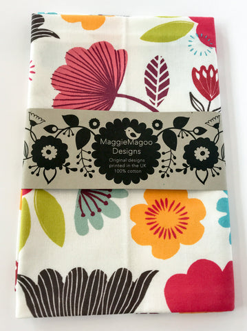 MaggieMagoo Designs - Bright Floral Tea Towel