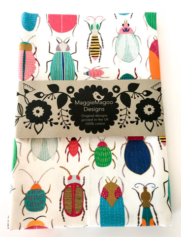 MaggieMagoo Designs - Light Bugs Tea Towel