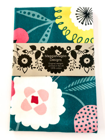 MaggieMagoo Designs - Teal Floral Tea Towel