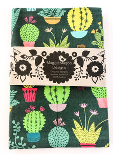 MaggieMagoo Designs - Dark Cactus Tea Towel