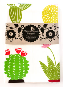 MaggieMagoo Designs - Light Cactus Tea Towel