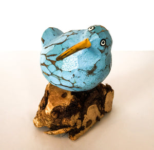 Bool Bird on Coffee Root Sculptures - Choice of 3 colours