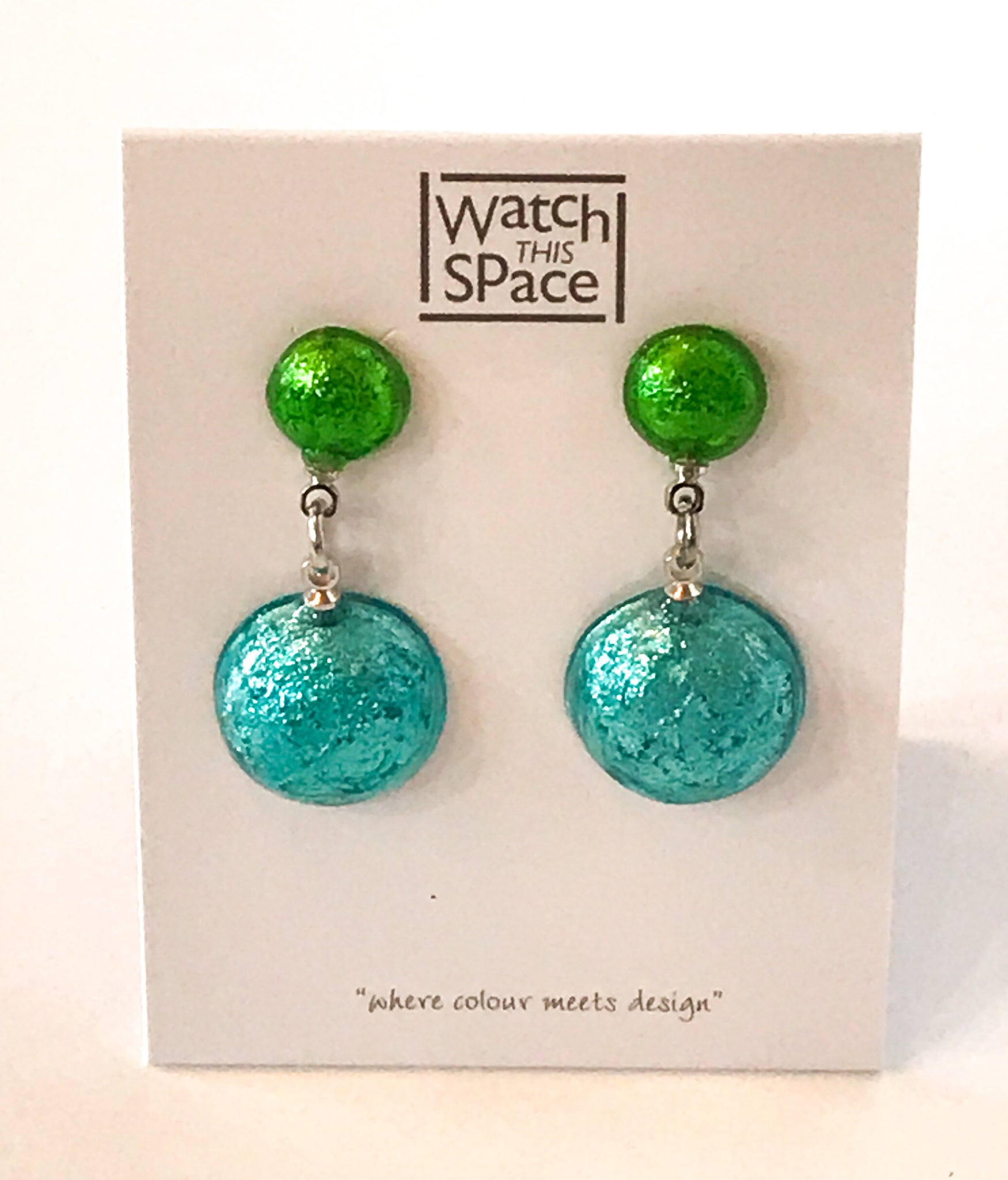 Caribbean Cabouchon stud dangle earrings