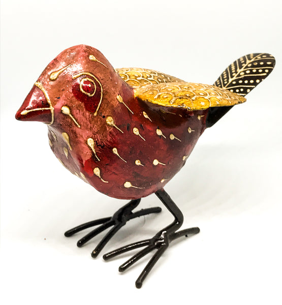 Hand-painted Iron Garden Birds - Choice of 6 colours