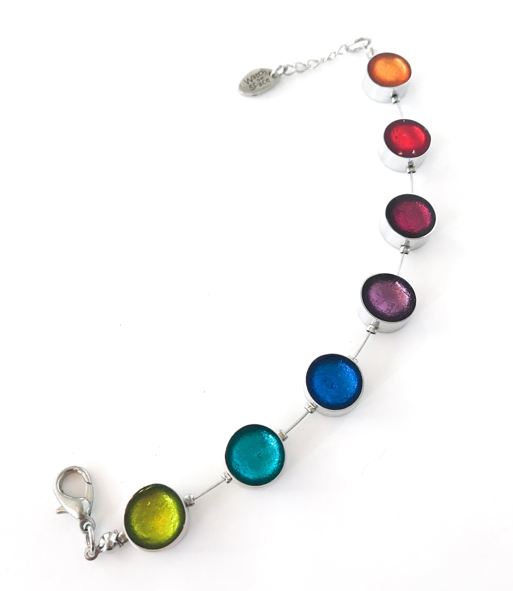 Rainbow Metal Button bracelet