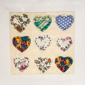 Appliqued Hearts Card