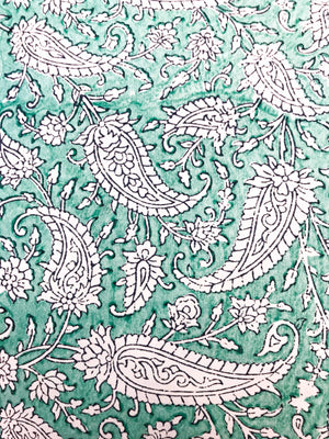 Luxury Block Printed Wrapping Paper - Breeze
