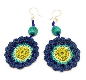 Flower Crochet Hmong Earrings