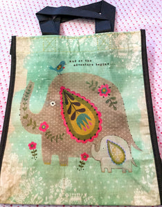 Recycled Plastic Giftbag (Medium) - And so the adventure begins...