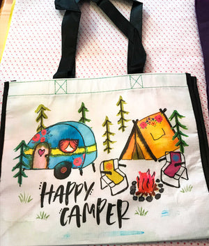 Recycled Plastic Giftbag (Large) - Happy Camper