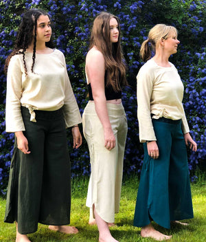 Earth Rise Bell Trousers - Choice of 3 colours