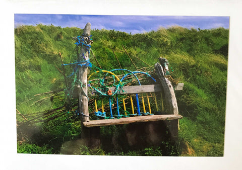 Rebecca Rowan Greetings Card - Seaside Bench, Embleton