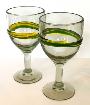 Mexican Recycled Glassware - Wine Glasses