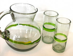 Mexican Recycled Glassware - Hi-ball Glasses