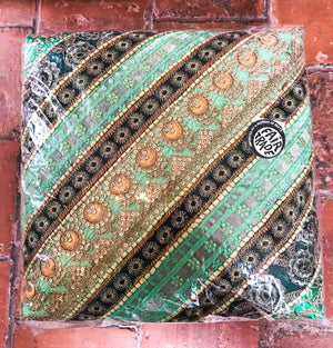 Indian Diagonal Patchwork Footstool - Choice of 5 colours