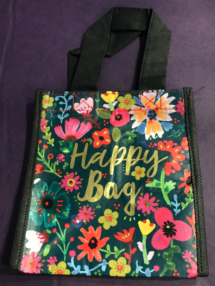 Recycled Plastic Giftbag (Small) - Happy Bag (Floral)