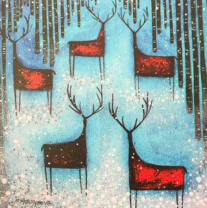 Nikki Monaghan Cards - Stags and Silver Snow