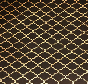 Luxurious Recycled Rag Wrapping Paper - Marrakesh Black