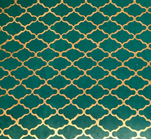 Luxurious Recycled Rag Wrapping Paper - Marrakesh Turquoise