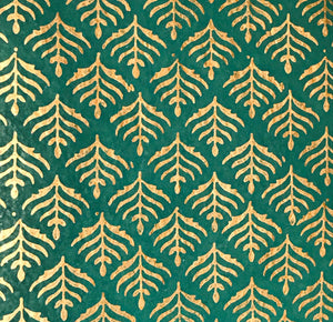 Luxurious Recycled Rag Wrapping Paper - Benares Turquoise