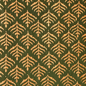 Luxurious Recycled Rag Wrapping Paper - Benares Green