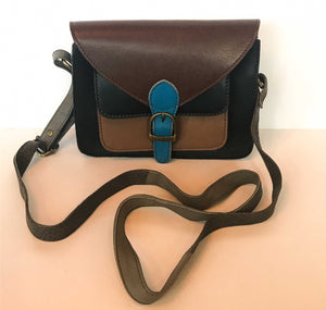 Recycled Leather Multi-coloured Shoulder Bag