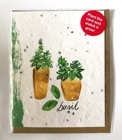 Plant a Card - Basil Pot