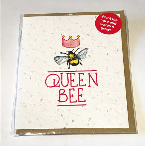 Plant a Card - Queen Bee