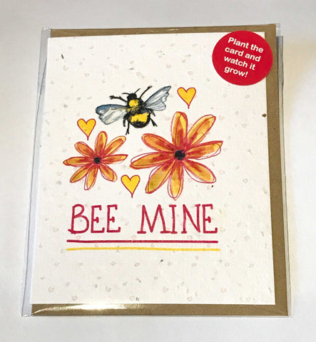 Plant a Card - Bee Mine