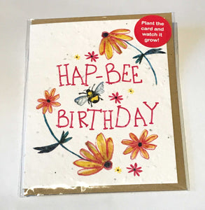 Plant a Card - Hap-bee Birthday