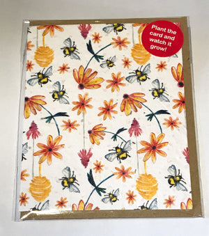Plant a Card - Bee Pattern