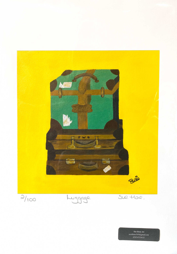 Sue Hone Prints - Luggage