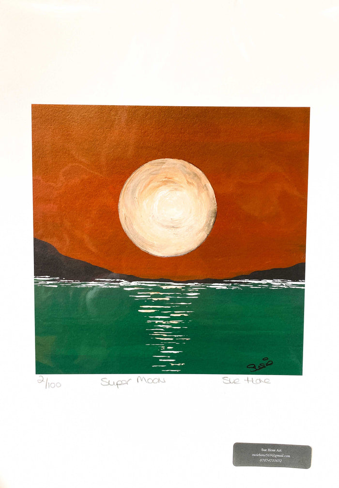 Sue Hone Prints - Super Moon