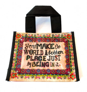 Recycled Plastic Giftbag (Small) - You Make The World...