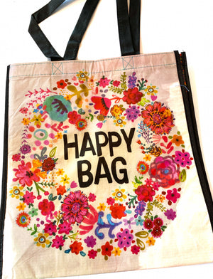 Recycled Plastic Giftbag (Large) - Happy Bag (Floral)